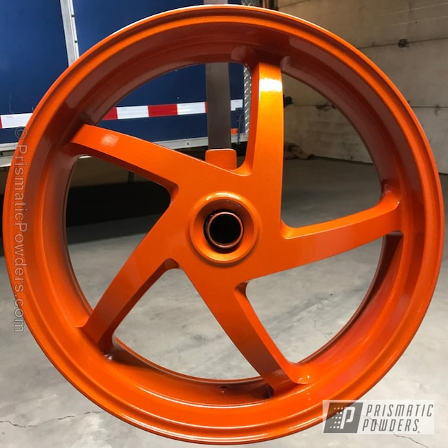 Powder Coating: Clear Vision PPS-2974,Motorcycles,Illusion Tangerine Twist PMS-6964