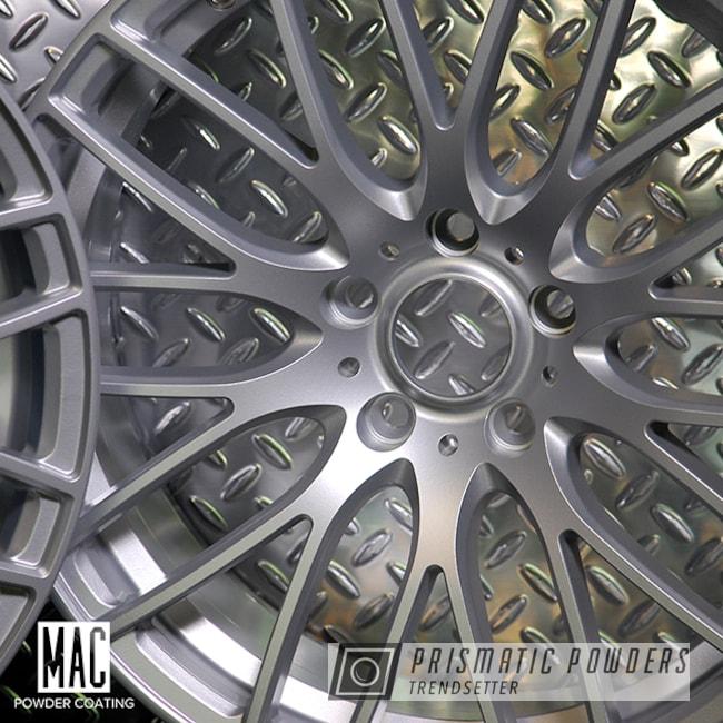 Powder Coating: Wheels,Auto Parts,Porsche Silver PMS-0439,Automotive,Acura