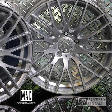 Powder Coated Acura Wheels In Porsche Silver