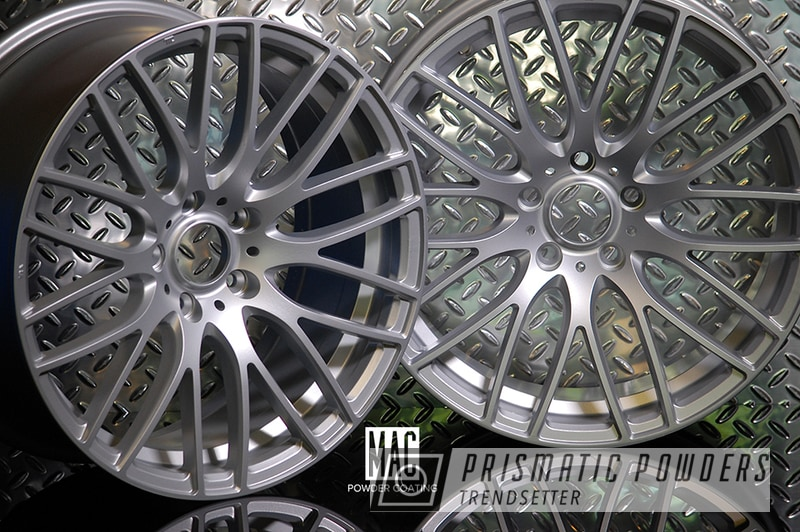Powder Coated Acura Wheels In Porsche Silver