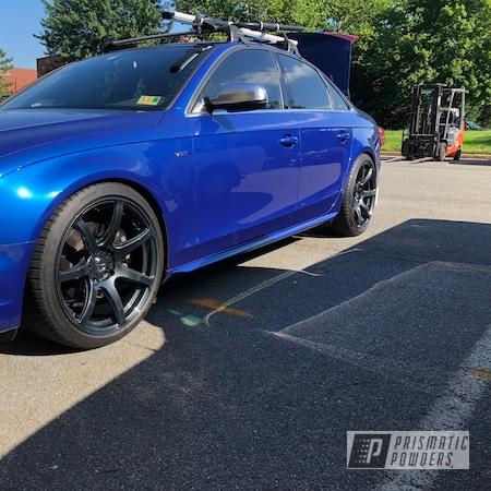 Powder Coating: Wheels,Automotive,Clear Vision PPS-2974,Soft Misty Black PMB-4254,Audi,S4