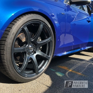 Powder Coated Audi S4 Audi Wheels In Soft Misty Black And Clear Vision