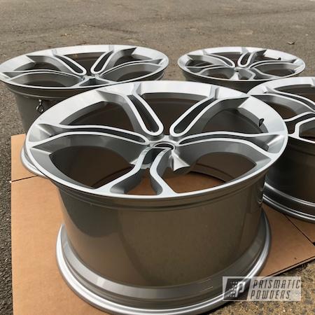 Powder Coating: Wheels,Porsche Silver PMS-0439,Automotive,McLaren,Clear Vision PPS-2974