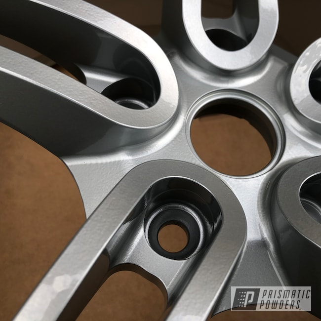 Powder Coating: Wheels,Porsche Silver PMS-0439,Automotive,McLaren,Clear Vision PPS-2974