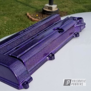 Honda B18 Valve Cover In Illusion Purple And City Lights