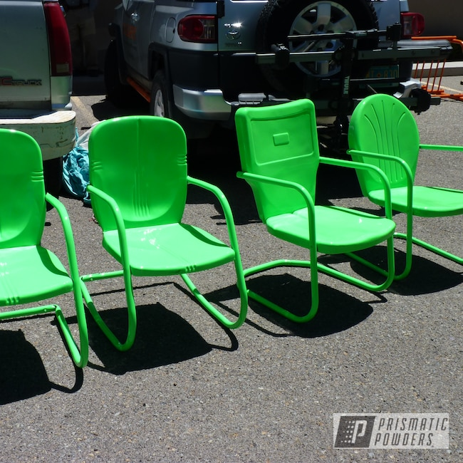 Powder Coating: Patio Furniture,Outdoor Furniture,Custom Outdoor Furniture,Casper Clear PPS-4005,Custom Outdoor Patio Furniture,Neon Green PSS-1221