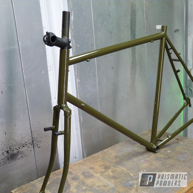 Powder Coating: Surly,Clear Vision PPS-2974,Touring Bike,Yellow Olive PSS-5547,Bicycle