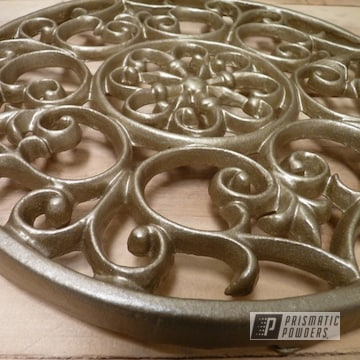 Walts Gold Powder Coat On This Custom Wall Art