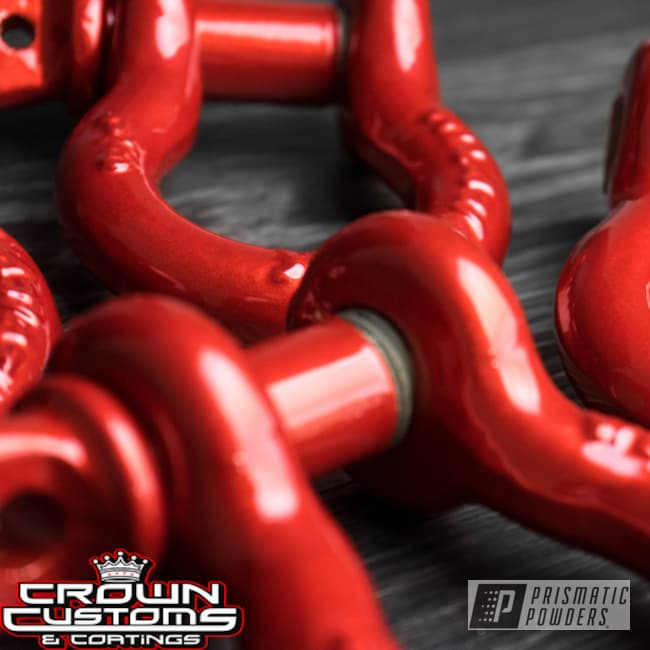 Illusion Red Powder Coat On These Auto Tow Hooks