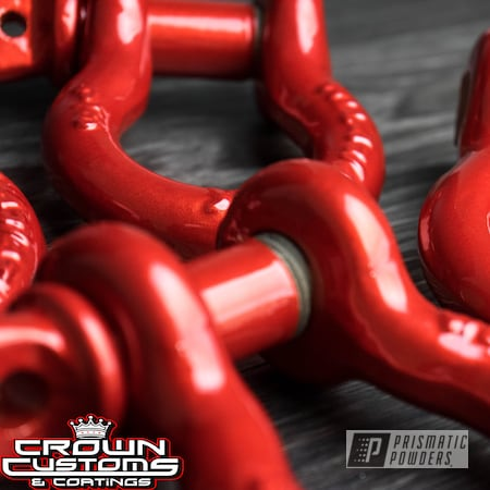 Powder Coating: Automotive,Clear Vision PPS-2974,Red,Illusion Red PMS-4515,Hooks,Illusion Red,Tow