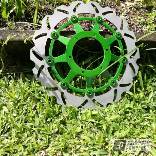 Powder Coating: Rotor,Psycho Lime PPB-2448,Motorcycles