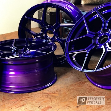 Powder Coated Purple Raffa Rs-01 Wheels