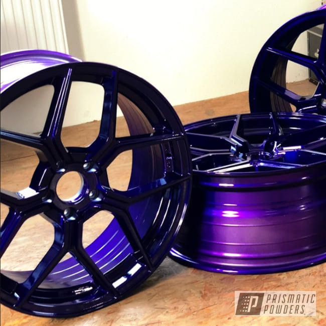 Powder Coating: Illusion Purple PSB-4629,Wheels,Raffa,Automotive,RS-01,Clear Vision PPS-2974