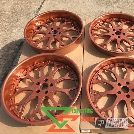 Powder Coating: Wheels,Automotive,Custom Wheels,Penny Gold PPB-5129,Forgiato,Powder Coat Wheels