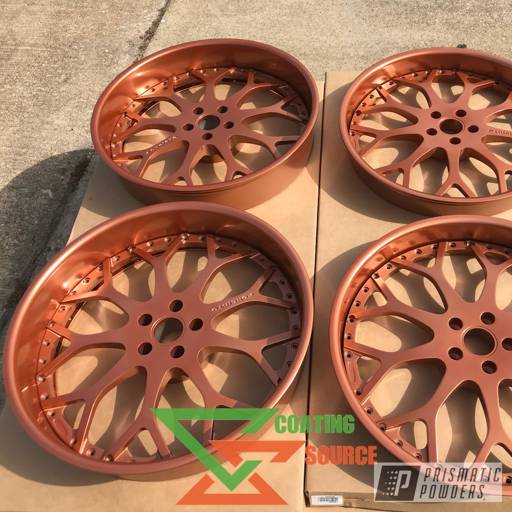 Powder Coated Forgiato Wheels in Penny Gold | Prismatic ...