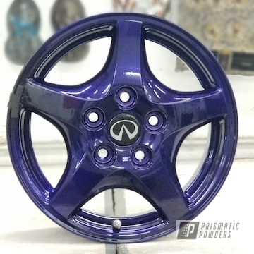 Powder Coated Infinity Rims In Super Chrome And Plue