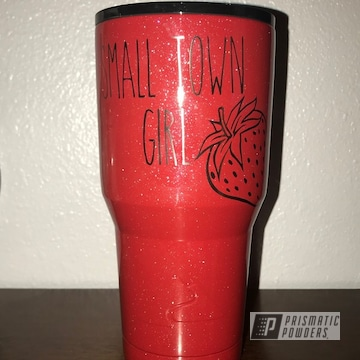 Powder Coated Ozark Trail 30oz Drinkware In A Red Sparkle Fnish