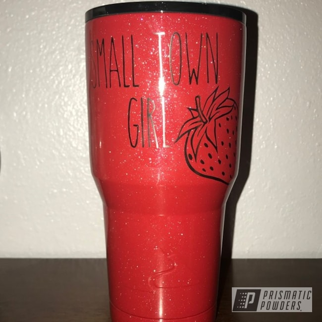 Powder Coating: Shattered Glass PPB-5583,Clear Vision PPS-2974,Drinkware,30 Oz Tumbler,30oz,Strawberry Frost PMB-1278,Ozark Trail