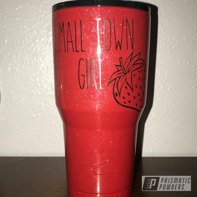 Powder Coating: Shattered Glass PPB-5583,Clear Vision PPS-2974,Drinkware,30oz,Strawberry Frost PMB-1278,Ozark Trail
