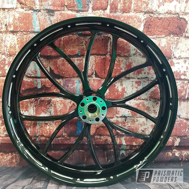 Powder Coating: Motorcycle Rims,Ink Black PSS-0106,Motorcycles