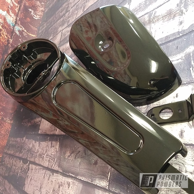 Powder Coating: Harley Davidson,Motorcycle Cover,Ink Black PSS-0106,Motorcycles