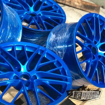 Blue Powder Coated Chevrolet Corvette Wheels