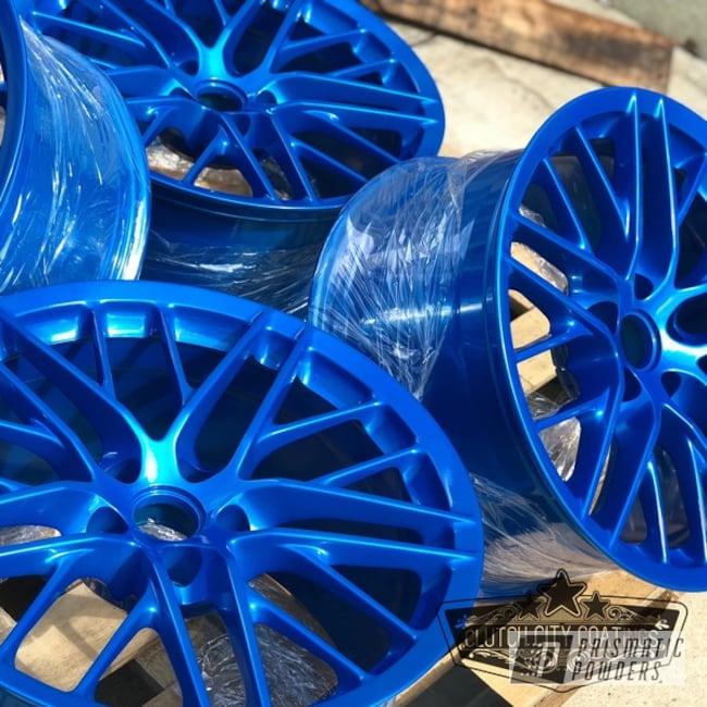 Powder Coating: Wheels,Automotive,Clear Vision PPS-2974,Chevrolet,OEM,LS9,Illusion Lite Blue PMS-4621,LSA,ZR1,Corvette