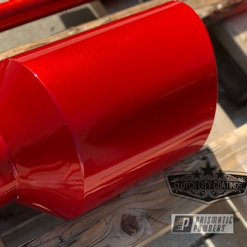Powder Coated Exhaust Tip In Red