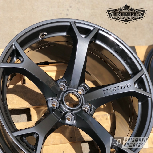 Powder Coating: Wheels,Automotive,370z,Nissan,OEM Wheels,ULTRA BLACK CHROME USS-5204,Forgiato,Powder Coat Wheels