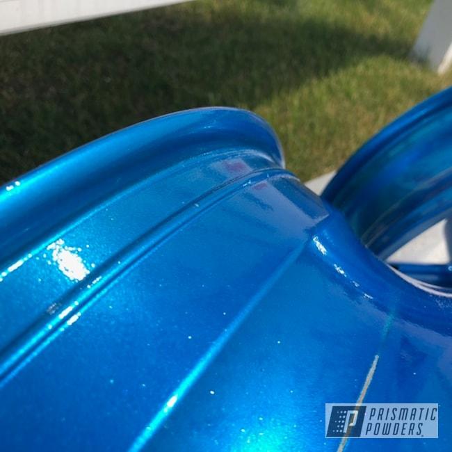 Powder Coating: SUPER CHROME USS-4482,Motorcycle Rims,Rims,blue,Motorcycles,Aurora Blue PPB-6006
