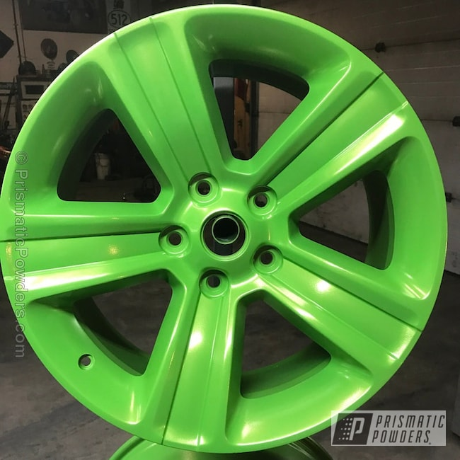 Powder Coating: Wheels,Lime Juice Green PMB-2304