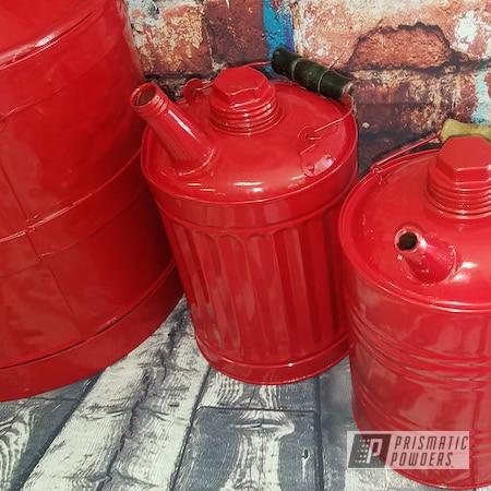 Powder Coating: Antique,Vintage,Vintage 10 gallon oil can,RAL 3002 Carmine Red