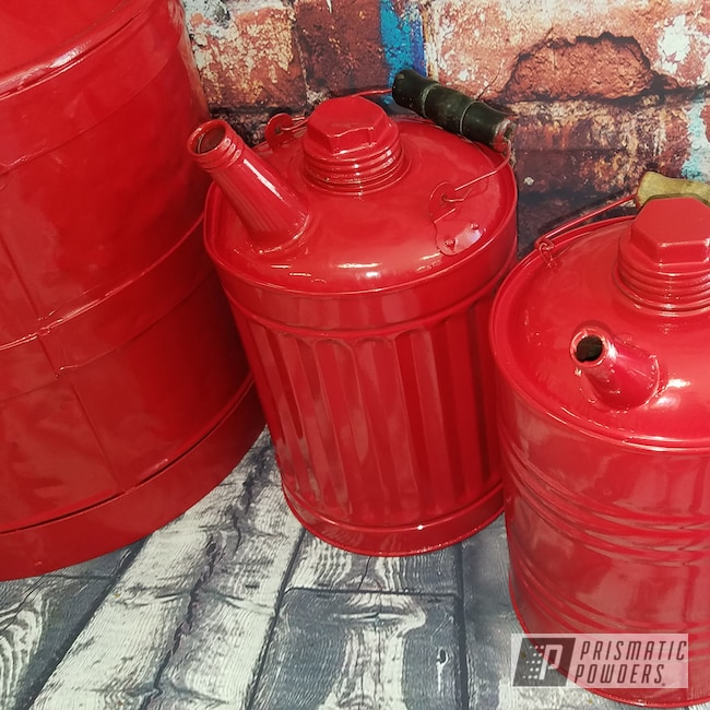 Powder Coating: Antique,Vintage,RAL 3002 RAL-3002,Vintage 10 gallon oil can