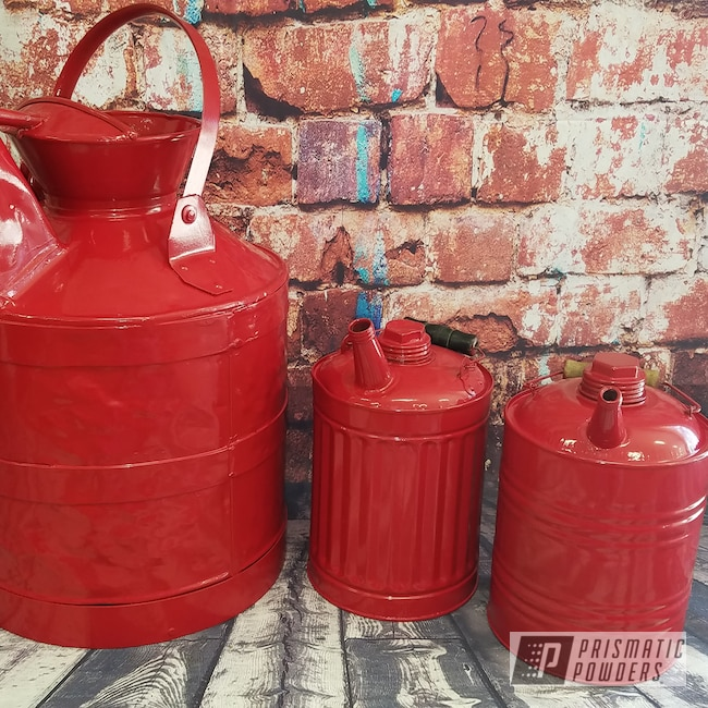 Powder Coating: Antique,Vintage,Vintage 10 gallon oil can,RAL 3002 Carmine Red