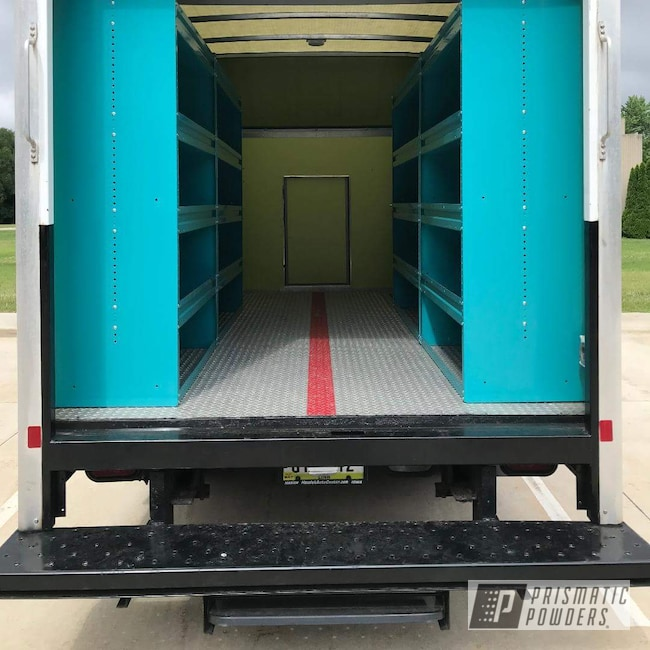 Powder Coating: Storage,Commercial,Shelving,Indian Turquoise PSS-2791,Miscellaneous