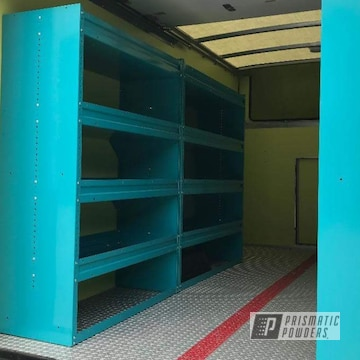 Powder Coated Shelving And Storage In Indian Turquoise