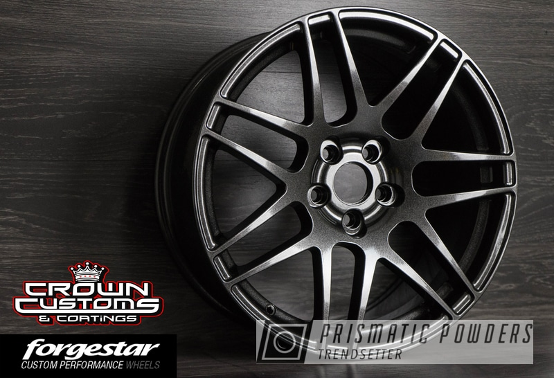 Powder Coating: Wheels,Automotive,Forgestar F14 wheel,Forgestar,VW Black PMB-2650