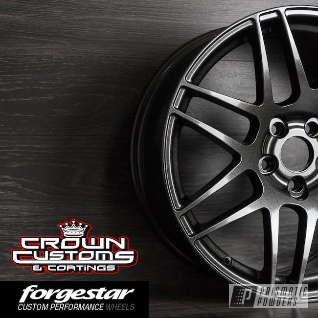 Powder Coating: Wheels,Automotive,Forgestar F14 wheel,Forgestar,VW Black PMB-2650
