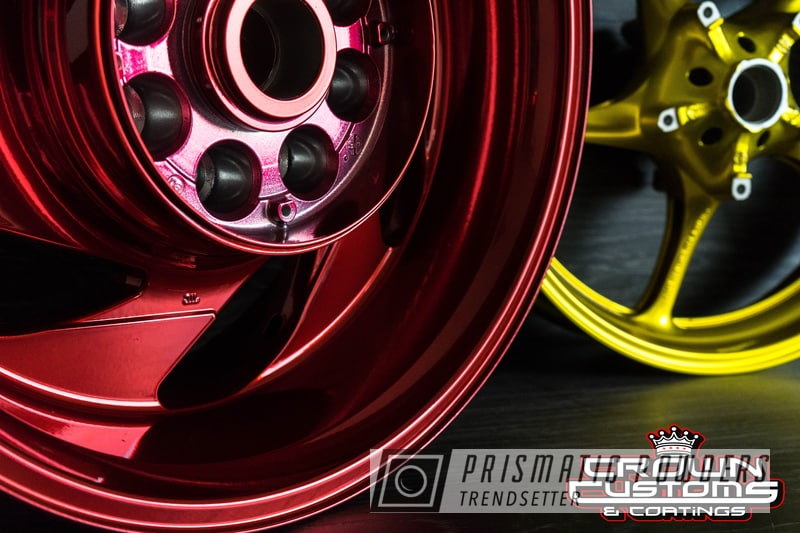 Powder Coating: Wheels,Illusion Gold PMB-10045,Clear Vision PPS-2974,SUPER CHROME USS-4482,Motorcycle Rims,LOLLYPOP RED UPS-1506,Motorcycle Parts,Motorcycles