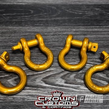 Powder Coated Automotive Truck Two Hooks In A Gold Finish