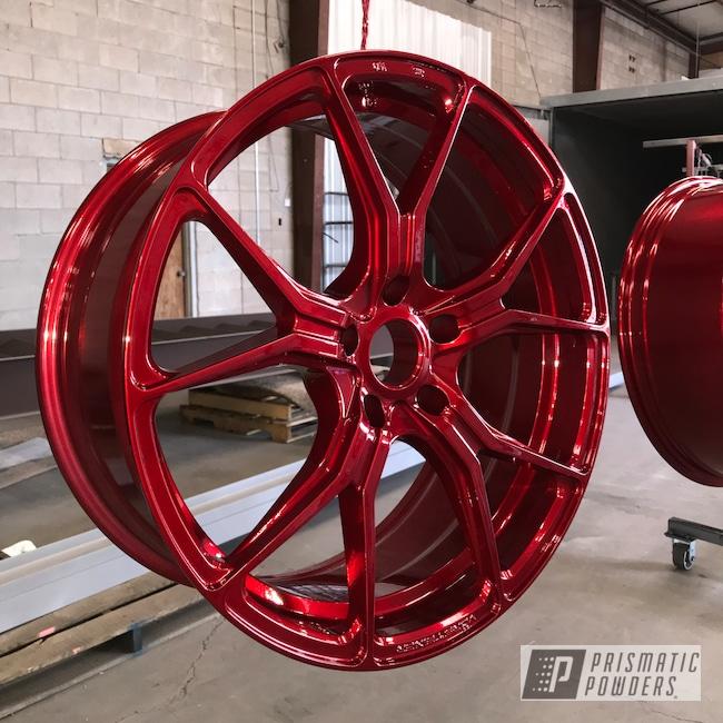Powder Coating: Wheels,Automotive,SUPER CHROME USS-4482,LOLLYPOP RED UPS-1506,BMW,20inch