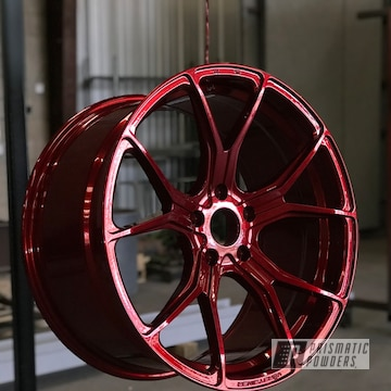 Powder Coated Bmw Wheels In Lollypop Red And Super Chrome
