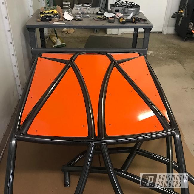 Powder Coating: Polaris RZR,Roll Cage,Polaris,RZR,Cadillac Grey PMB-6377