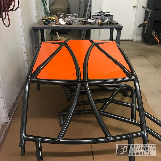 Powder Coating: Polaris RZR,Roll Cage,Polaris,RZR,Cadillac Grey PMB-6377