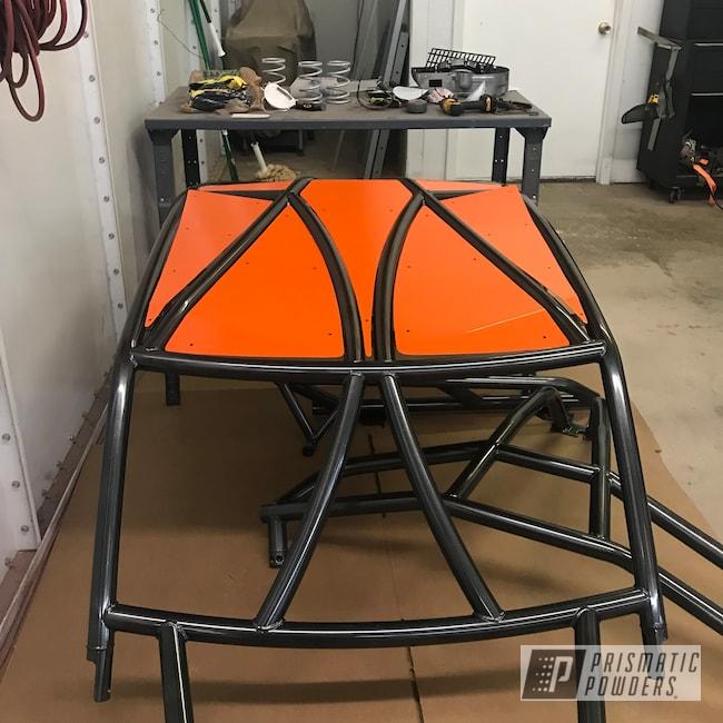 Powder Coating: Polaris RZR,Roll Cage,Cage,Polaris,RZR,Cadillac Grey PMB-6377