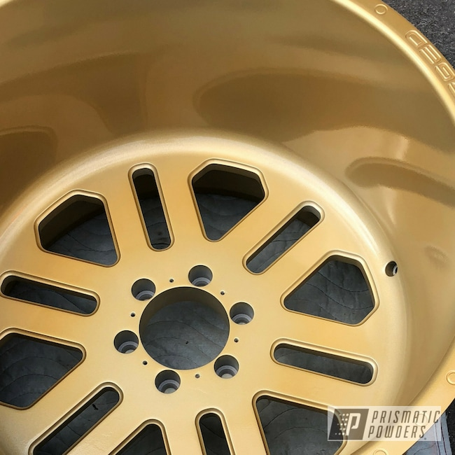 Powder Coating: Automotive,Custom Wheels,Show Truck,25s,Fuelforged,Lifted,Toyota,Transparent Gold PPS-5139,Tacoma