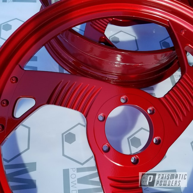 Powder Coating: Harley Davidson,Motorcycle Rims,Show Truck,LOLLYPOP RED UPS-1506,Motorcycle Parts,Motorcycles,Harley