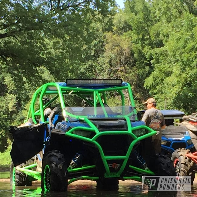 Powder Coating: ATV,Bright Green PSB-5945,Off-Road,Polaris,Rollcage,RZR,1000xp