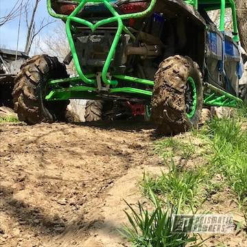 Powder Coated Polaris Rzr Parts In Bright Green
