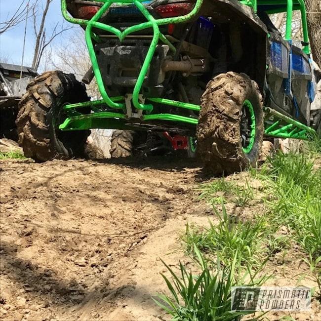 Powder Coating: ATV,Bright Green PSB-5945,Off-Road,Polaris,Rollcage,RZR,1000xp